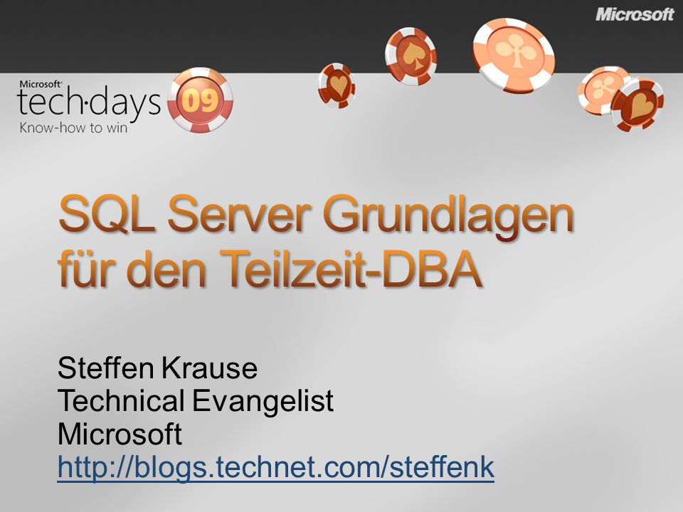 SQL Server Grundlagen für den Teilzeit-DBA