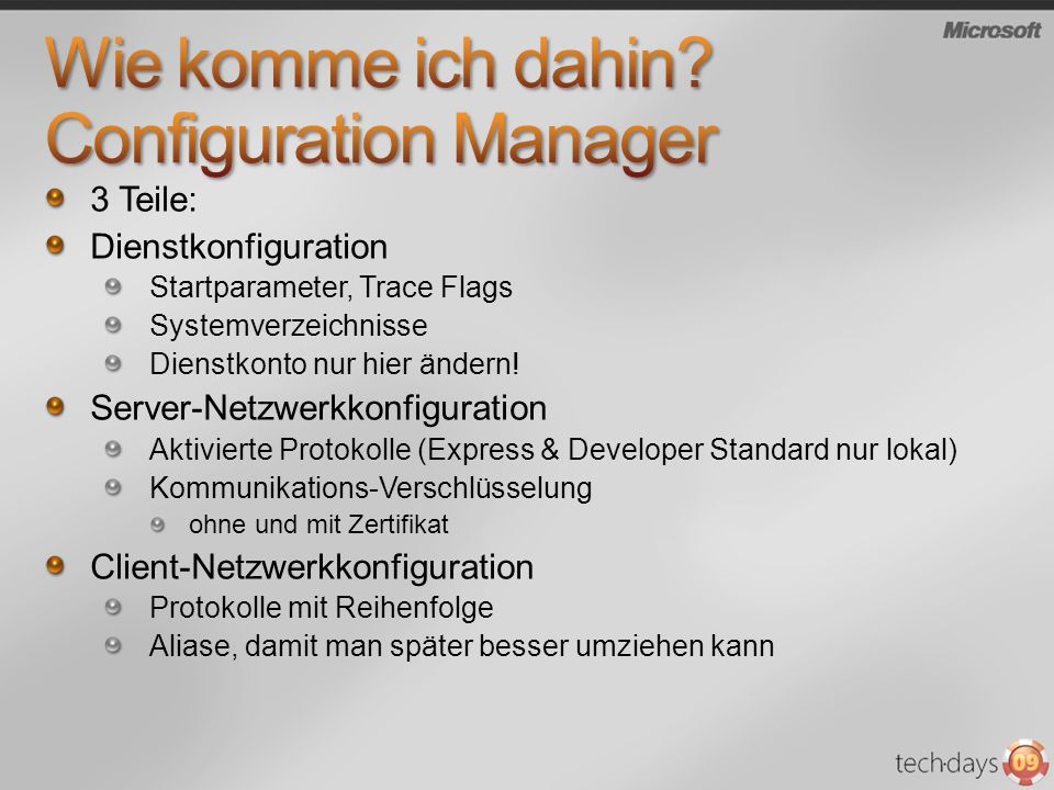 Wie komme ich dahin Configuration Manager
