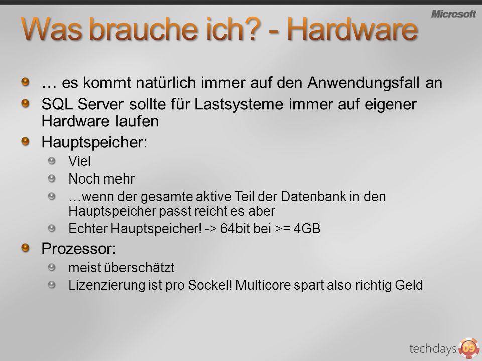 Was brauche ich - Hardware