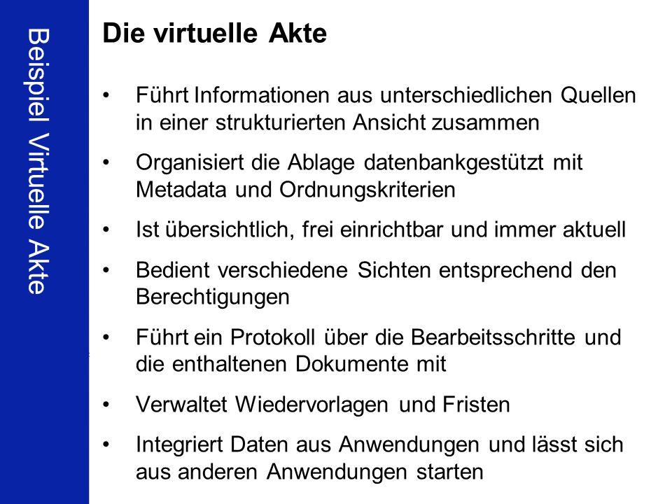 Beispiel Virtuelle Akte