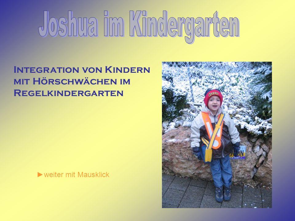 Joshua im Kindergarten