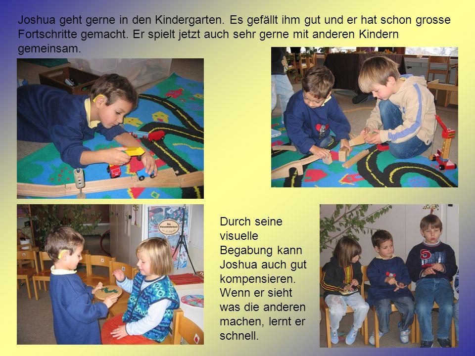 Joshua geht gerne in den Kindergarten