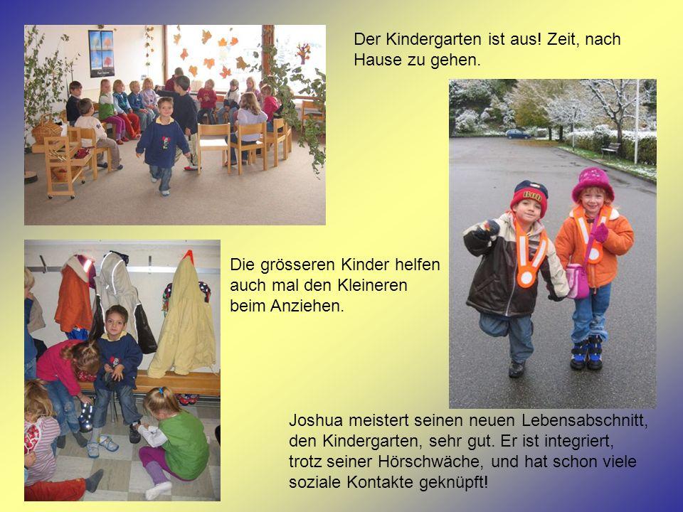 Der Kindergarten ist aus! Zeit, nach Hause zu gehen.