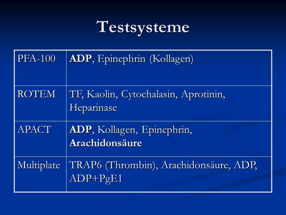 Testsysteme PFA-100 ADP, Epinephrin (Kollagen) ROTEM