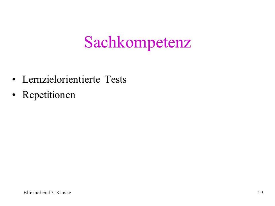 Sachkompetenz Lernzielorientierte Tests Repetitionen