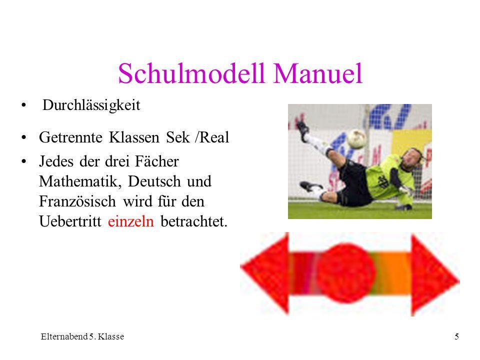 Schulmodell Manuel Getrennte Klassen Sek /Real