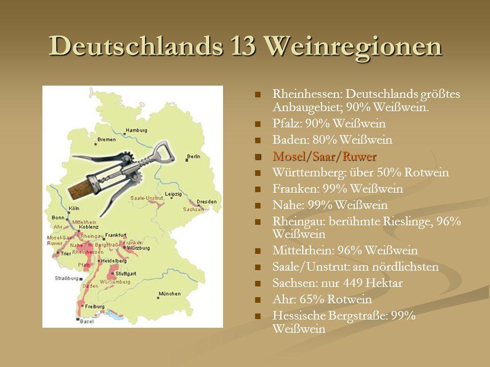 Deutschlands 13 Weinregionen