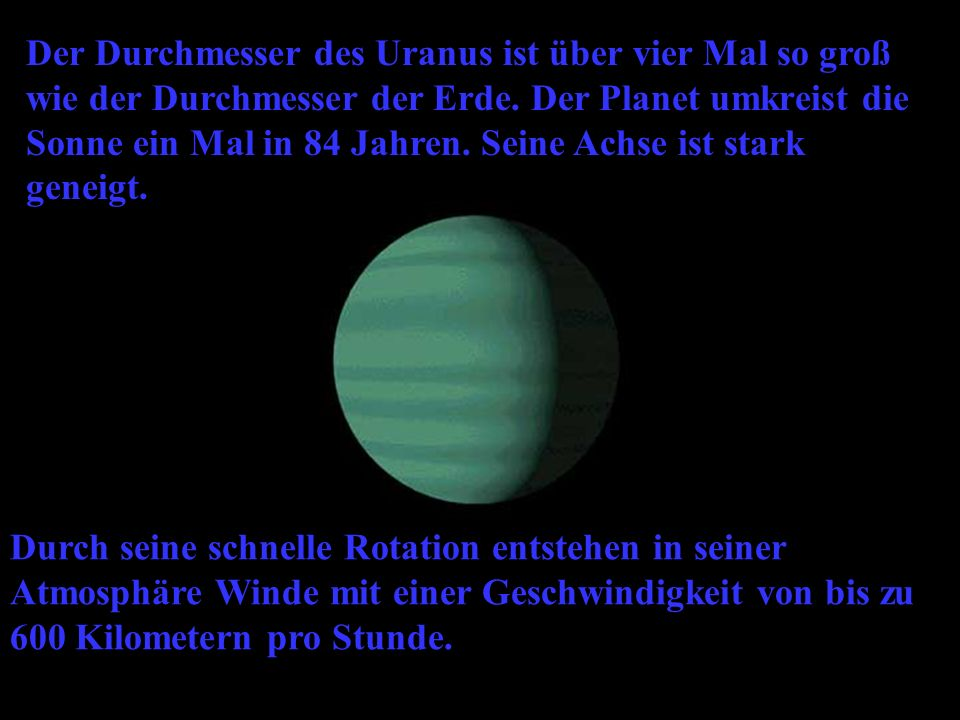 mit einen besuch des planeten uranus wagen wir uns ppt. Black Bedroom Furniture Sets. Home Design Ideas