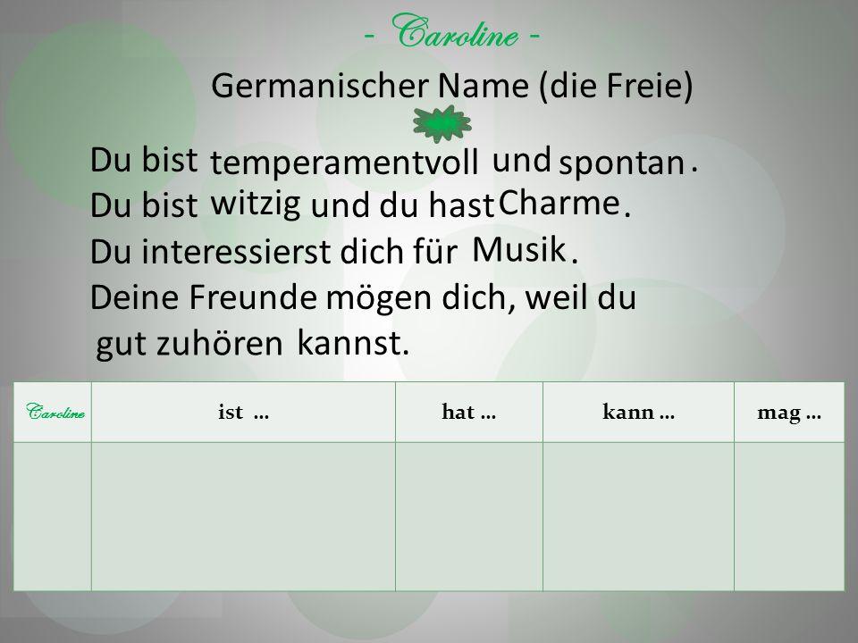 Germanischer Name (die Freie)