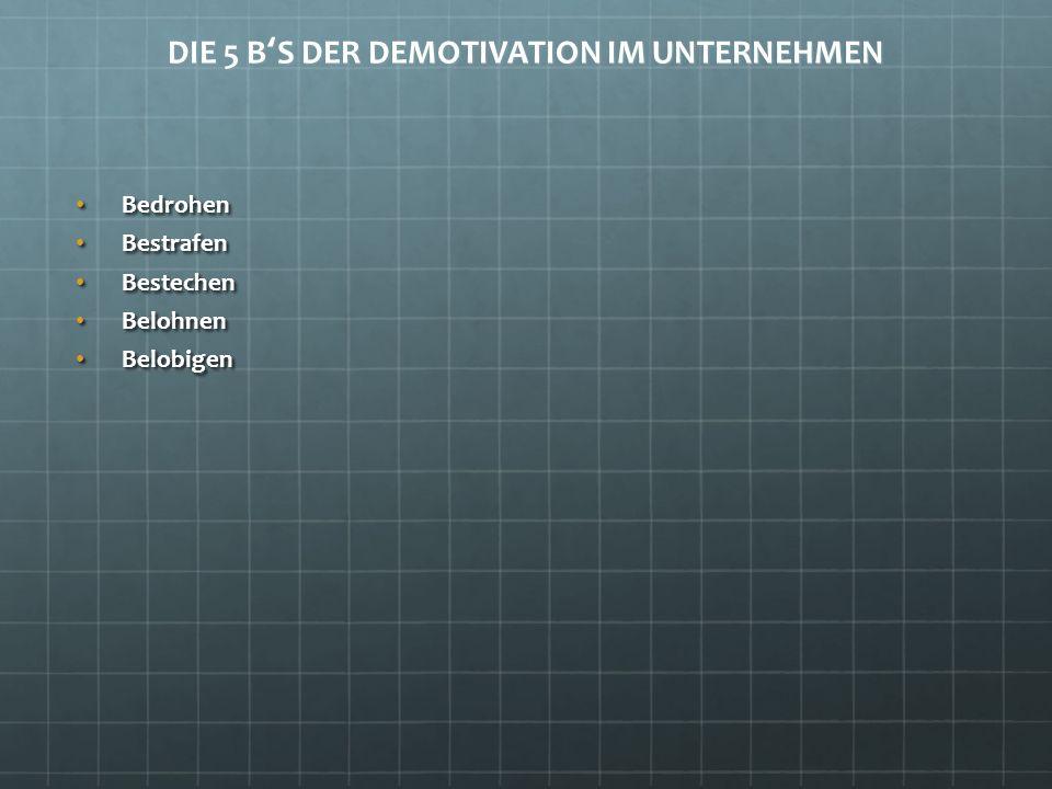 DIE 5 B'S DER DEMOTIVATION IM UNTERNEHMEN