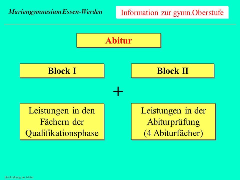 Blockbildung im Abitur