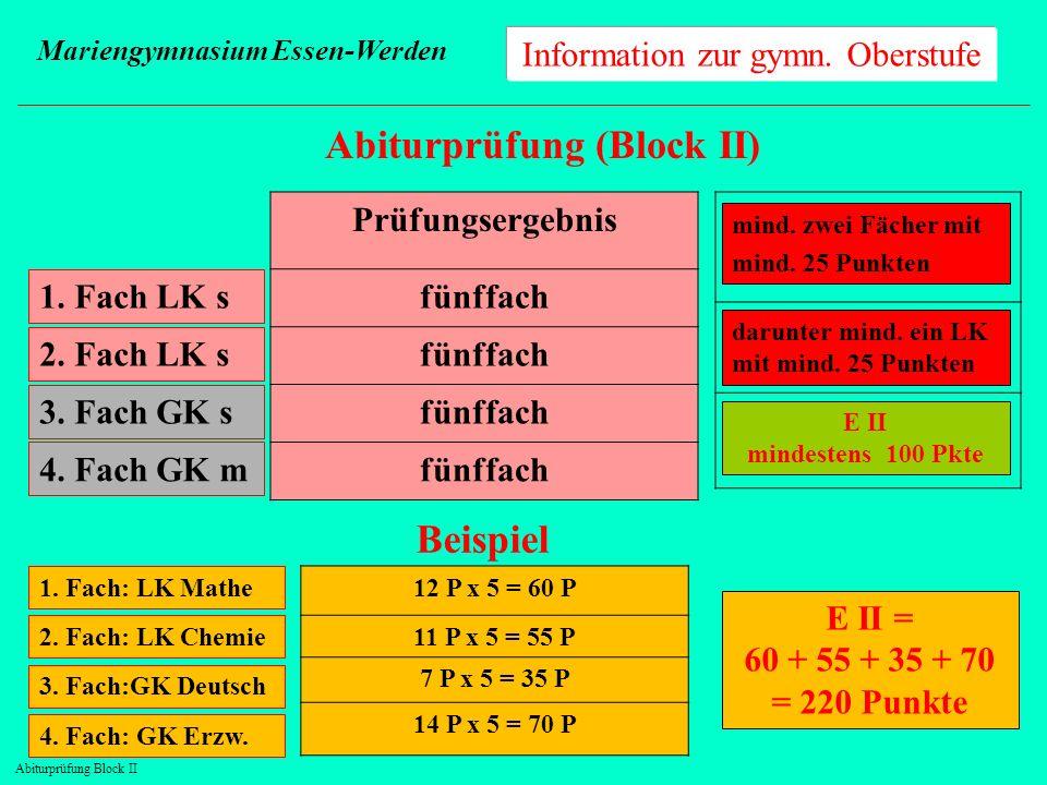 Abiturprüfung Block II