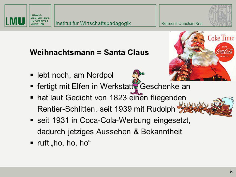 Weihnachtsmann = Santa Claus