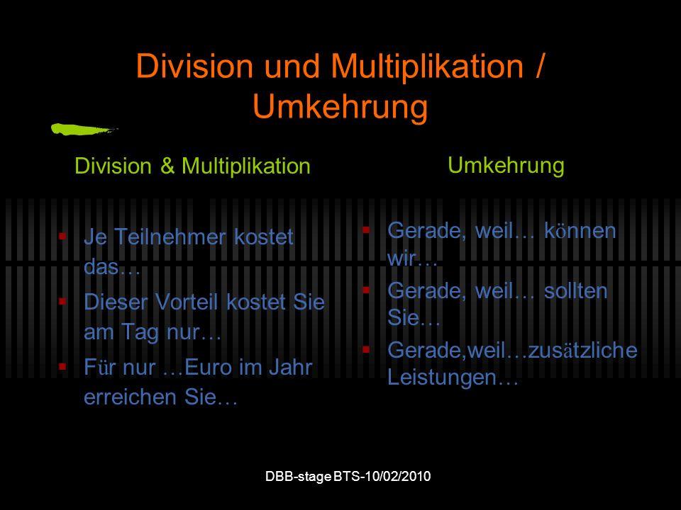 Division und Multiplikation / Umkehrung