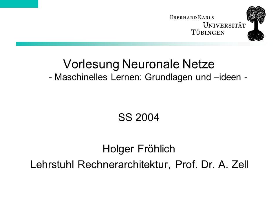 Lehrstuhl Rechnerarchitektur, Prof. Dr. A. Zell