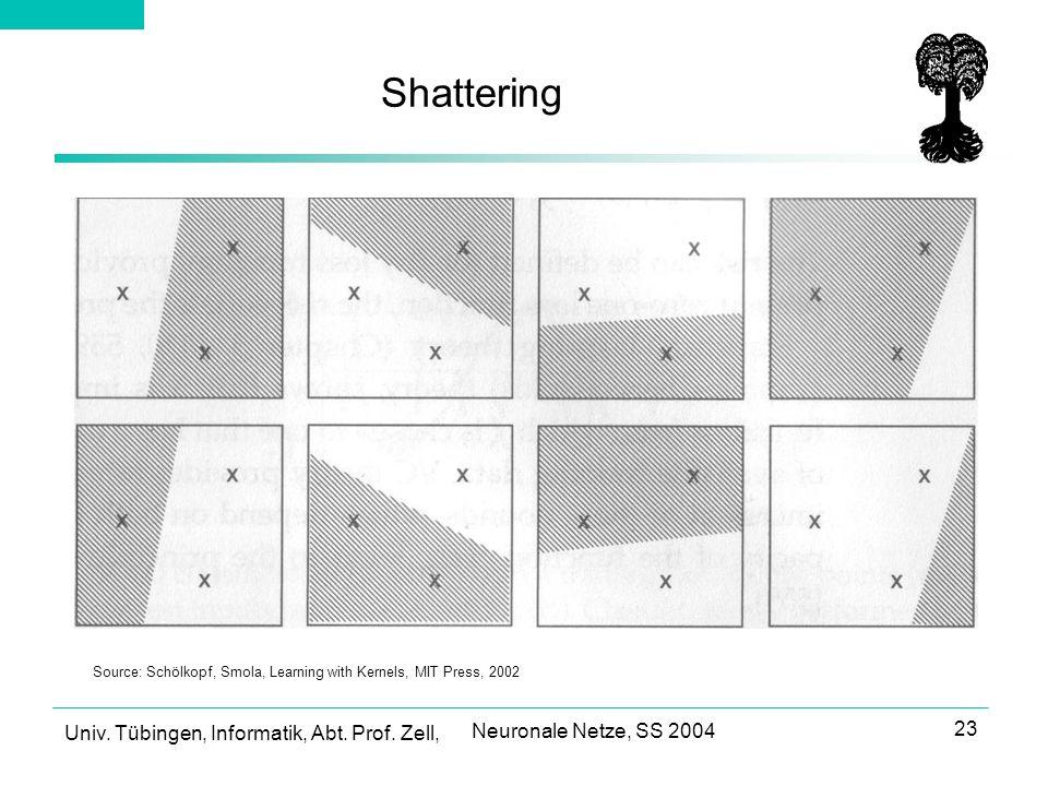 Shattering Neuronale Netze, SS 2004
