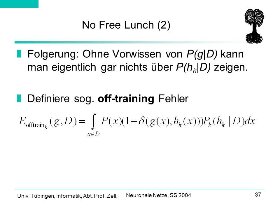 Definiere sog. off-training Fehler
