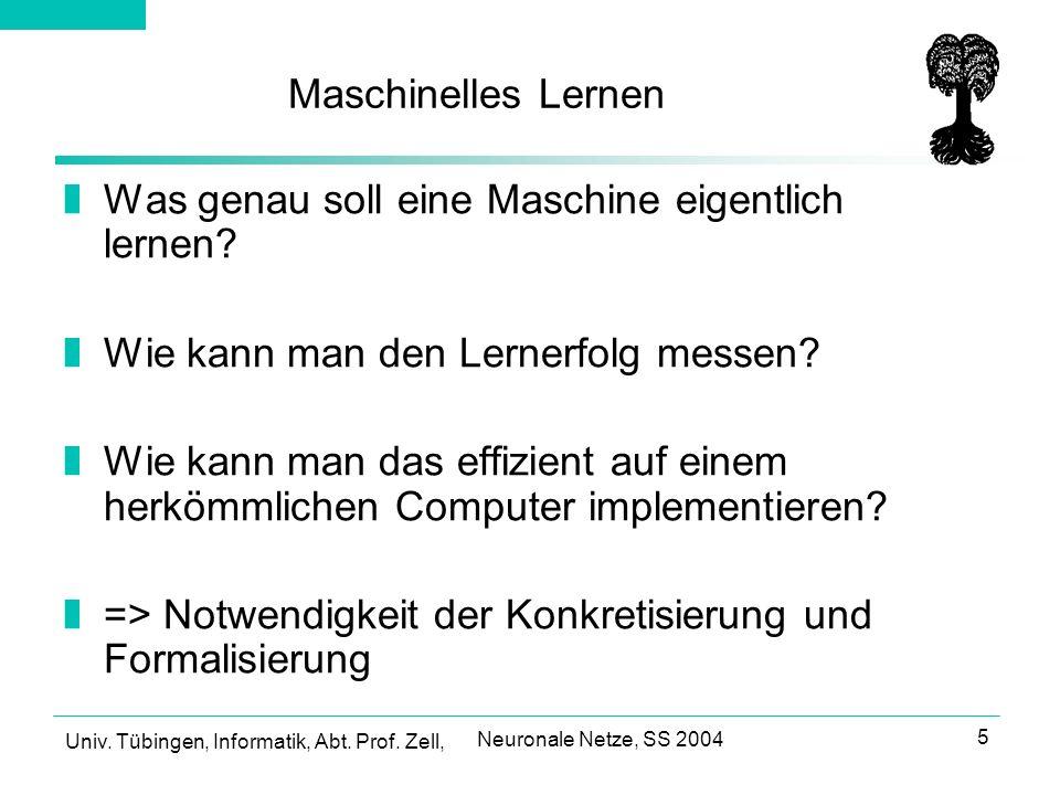 Was genau soll eine Maschine eigentlich lernen
