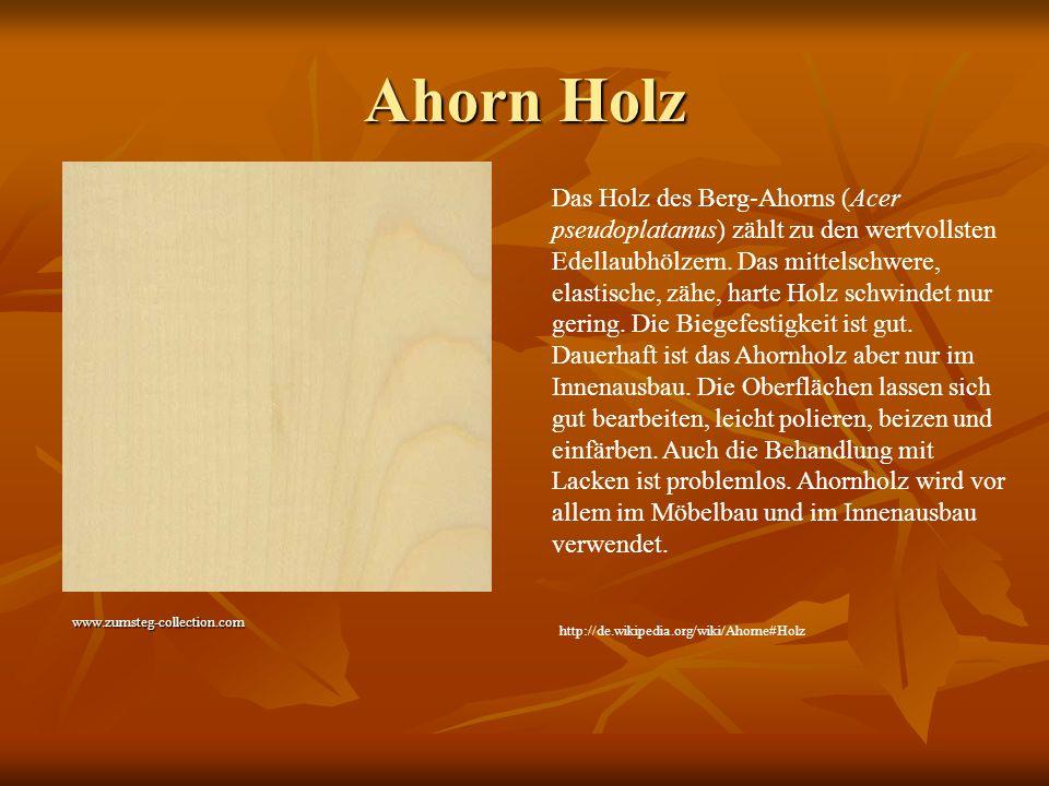 Ahorn Holz