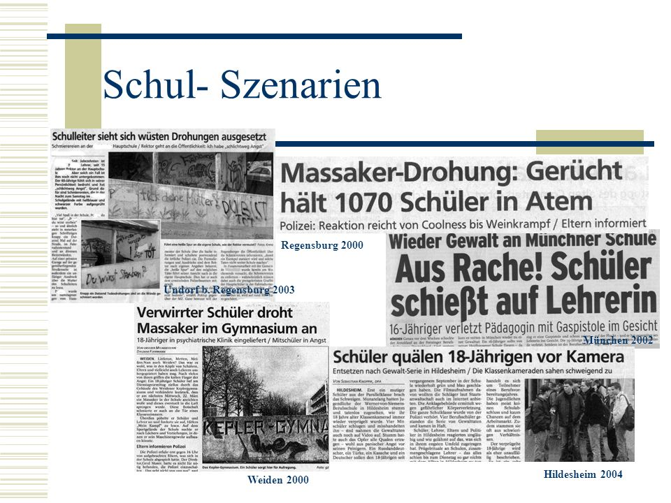 Schul- Szenarien Regensburg 2000 Undorf b. Regensburg 2003
