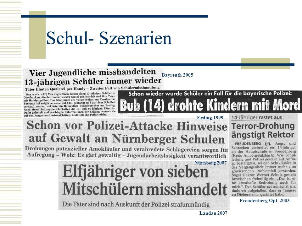 Schul- Szenarien Bayreuth 2005 Erding 1999 Nürnberg 2007