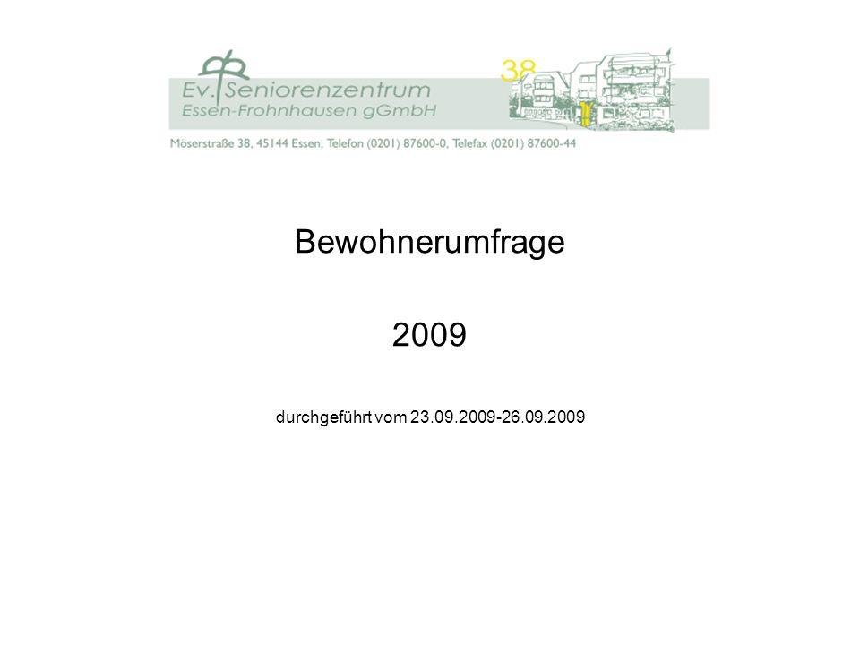 Bewohnerumfrage 2009 durchgeführt vom 23.09.2009-26.09.2009