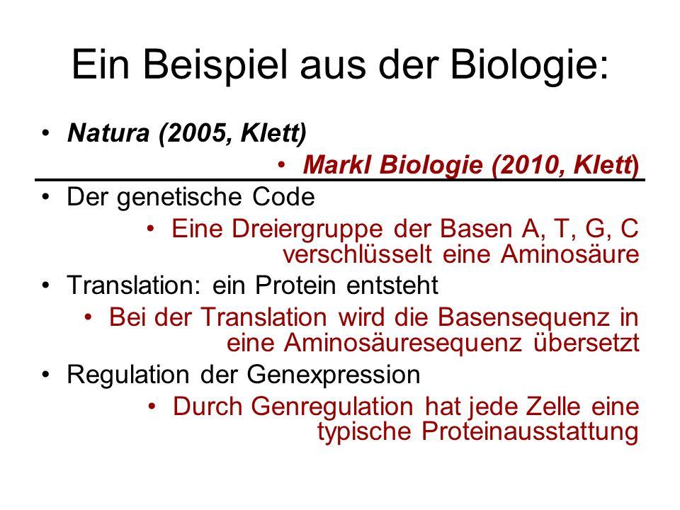 Ein Beispiel aus der Biologie: