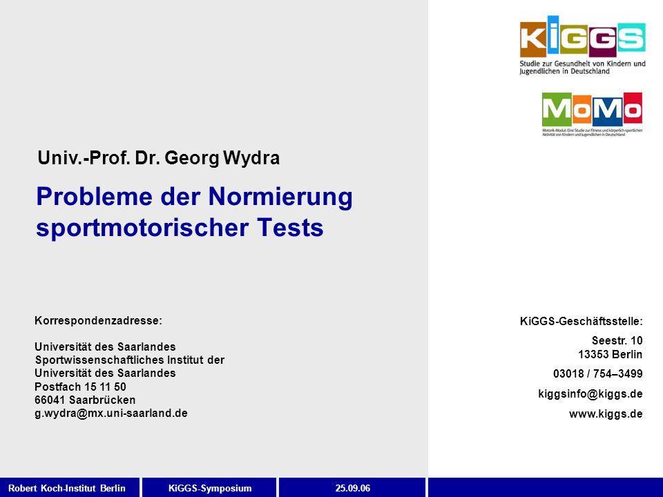 Probleme der Normierung sportmotorischer Tests