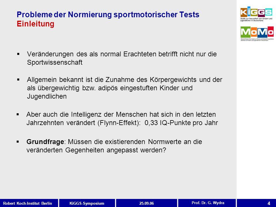 Probleme der Normierung sportmotorischer Tests Einleitung