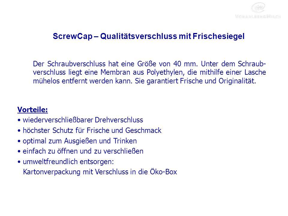 ScrewCap – Qualitätsverschluss mit Frischesiegel