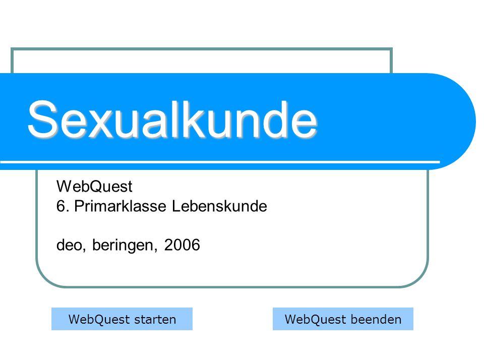 WebQuest 6. Primarklasse Lebenskunde deo, beringen, 2006