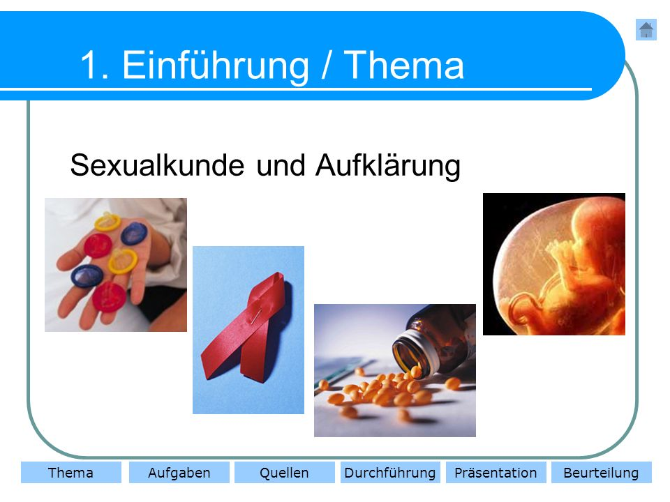 1. Einführung / Thema Sexualkunde und Aufklärung