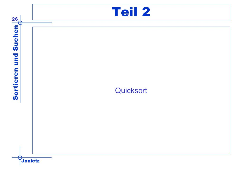 Teil 2 Quicksort