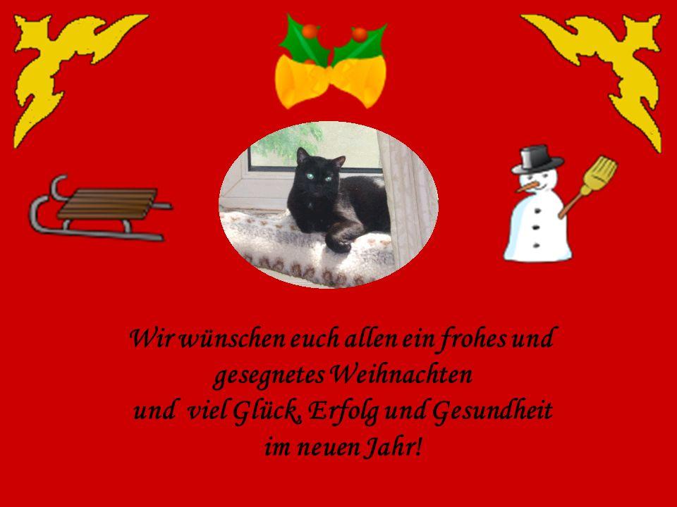 Wir wünschen euch allen ein frohes und gesegnetes Weihnachten