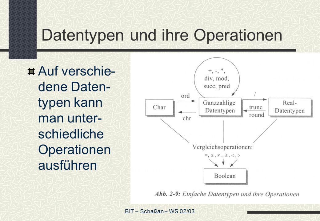 Datentypen und ihre Operationen