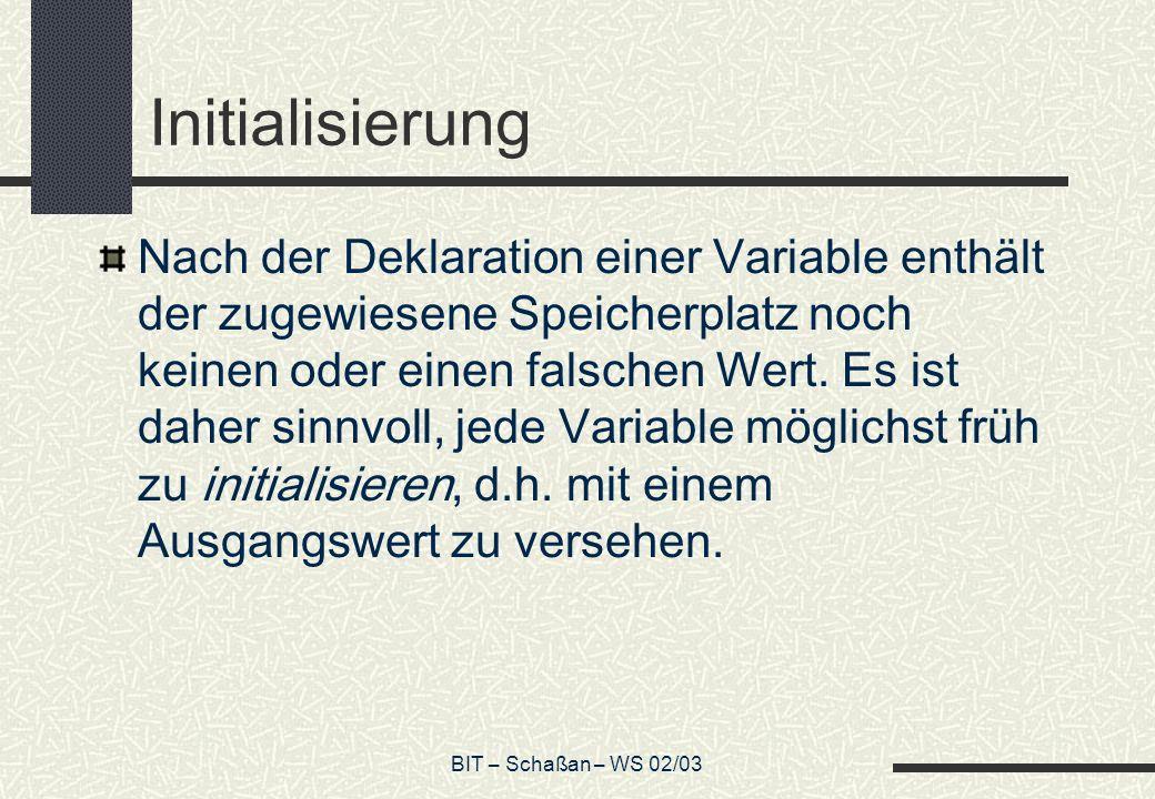 Initialisierung