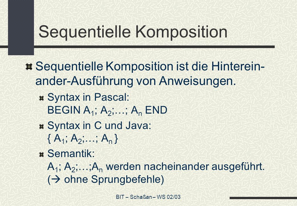 Sequentielle Komposition