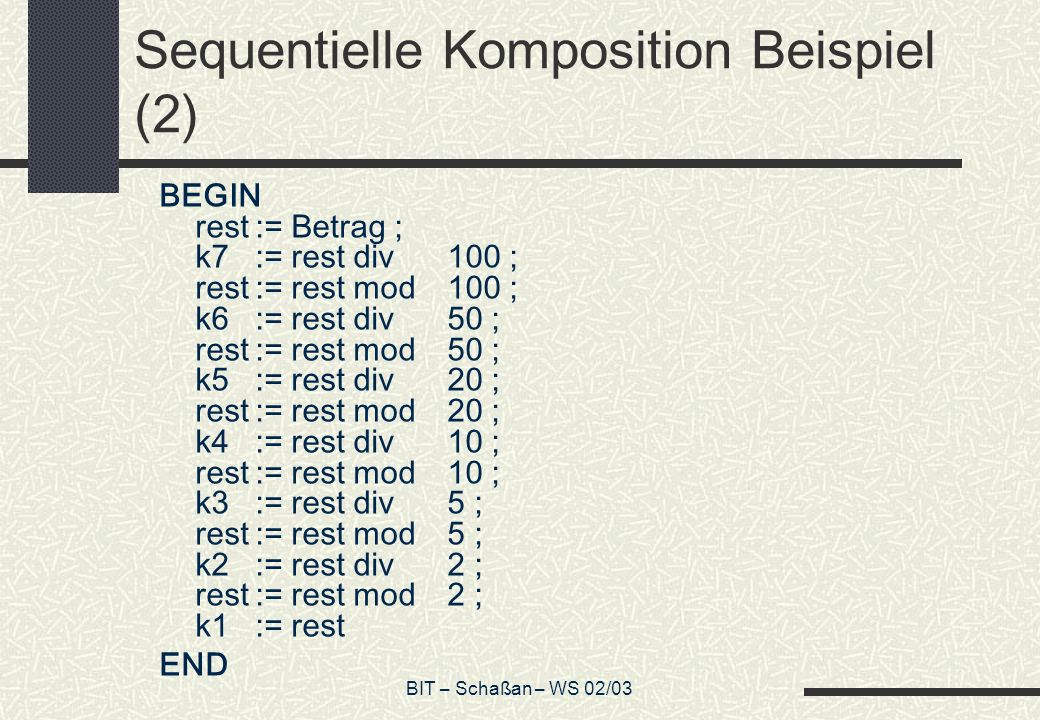 Sequentielle Komposition Beispiel (2)