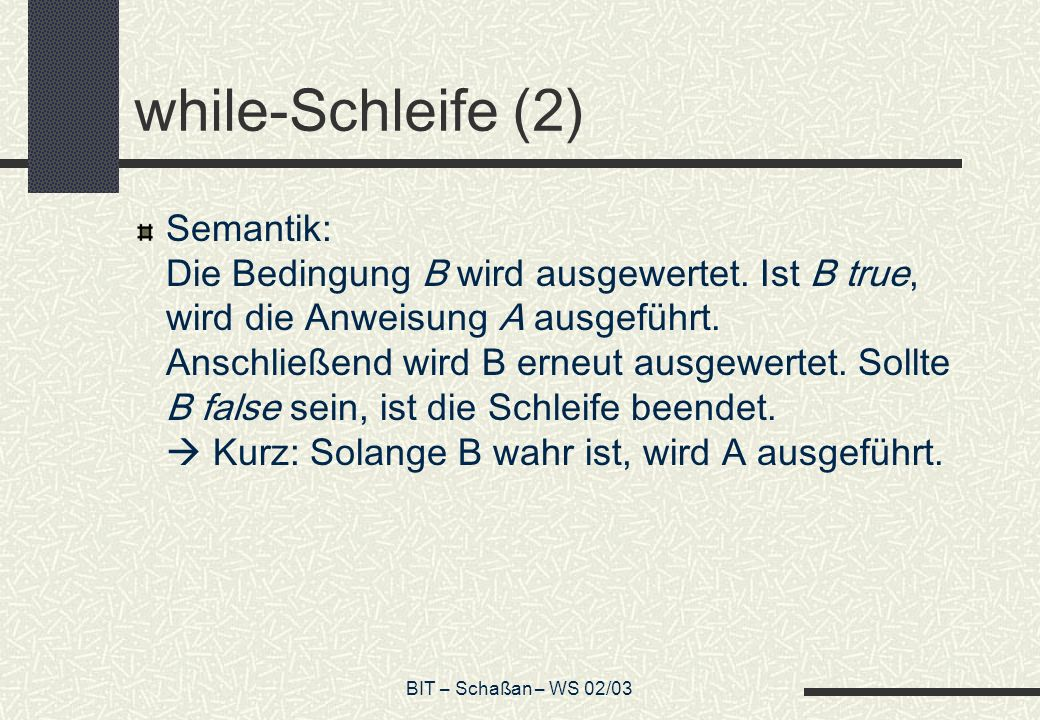 while-Schleife (2)