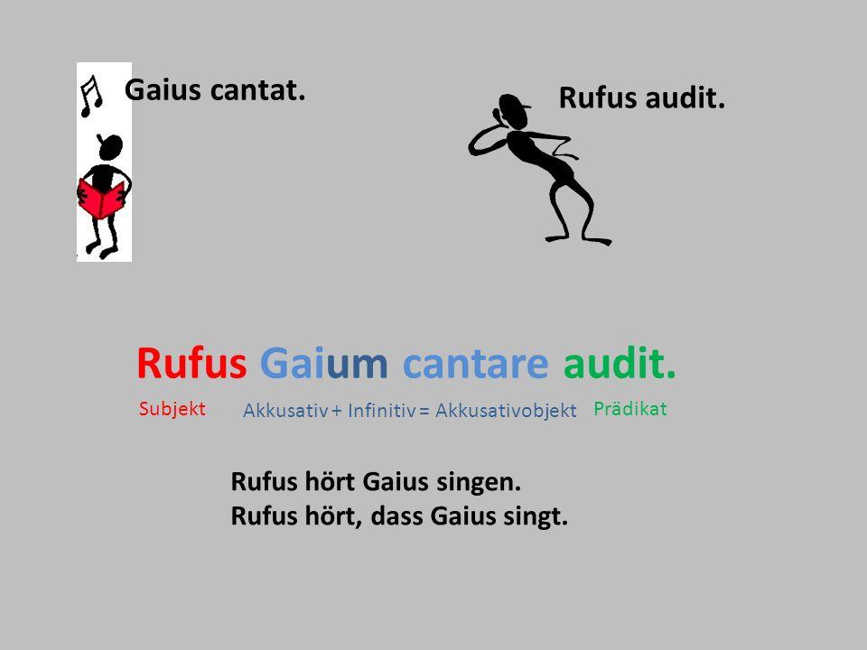 Rufus Gaium cantare audit.