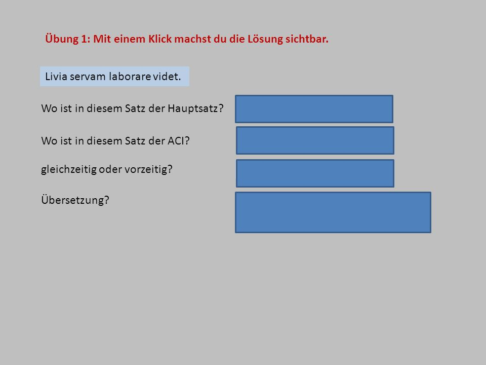 Übung 1: Mit einem Klick machst du die Lösung sichtbar.