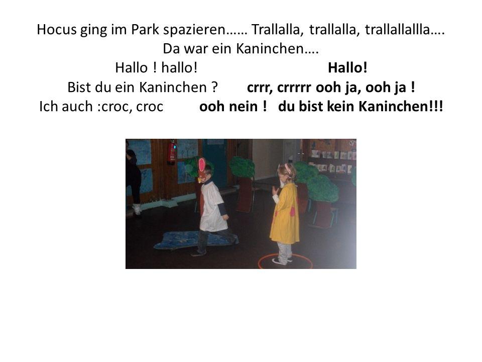 Hocus ging im Park spazieren…… Trallalla, trallalla, trallallallla…