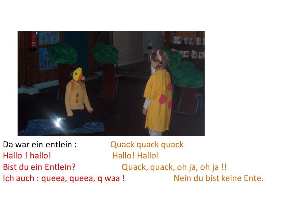 Da war ein entlein : Quack quack quack