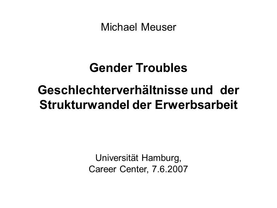 Geschlechterverhältnisse und der Strukturwandel der Erwerbsarbeit