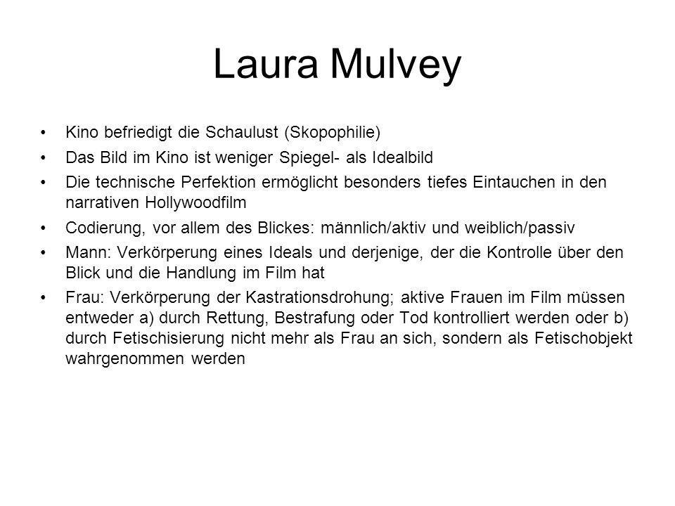 Laura Mulvey Kino befriedigt die Schaulust (Skopophilie)