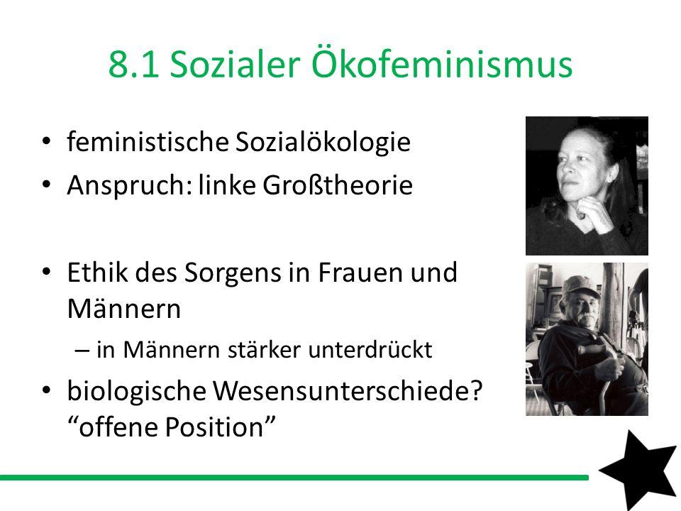 8.1 Sozialer Ökofeminismus