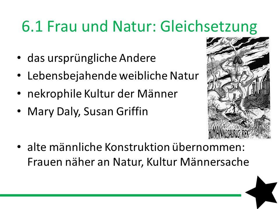 6.1 Frau und Natur: Gleichsetzung