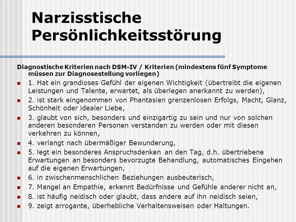 Narzisstische Persönlichkeitsstörung