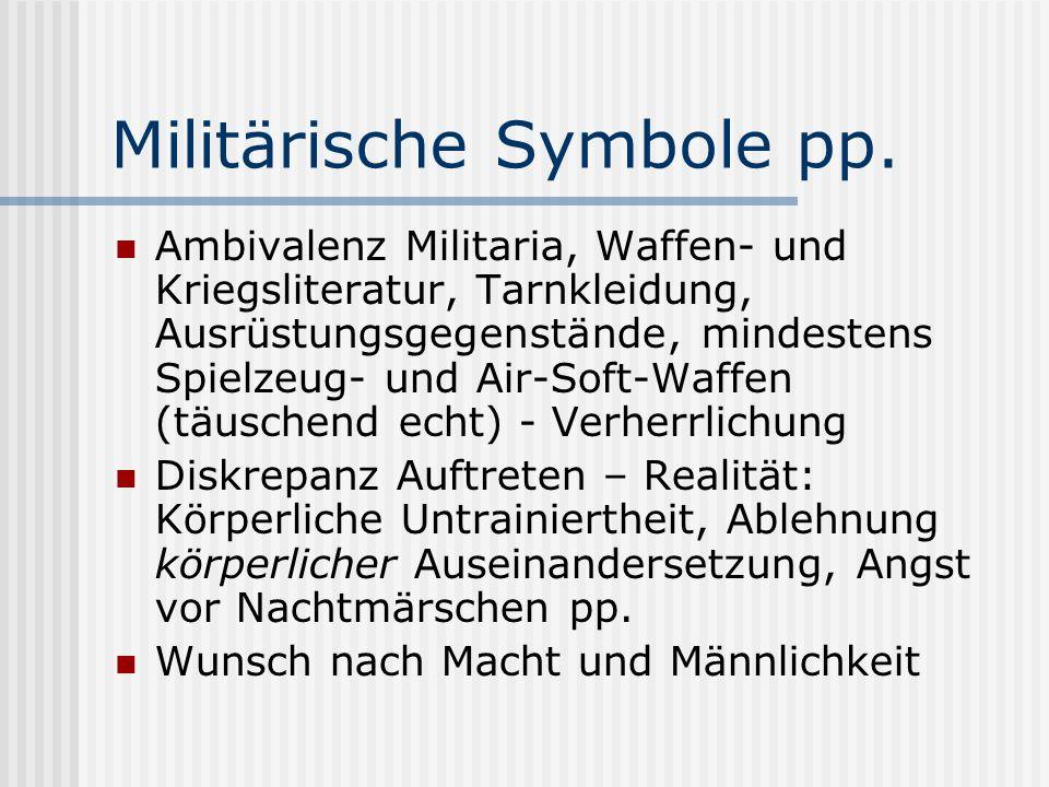 Militärische Symbole pp.