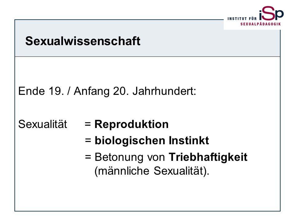 Sexualwissenschaft Ende 19. / Anfang 20. Jahrhundert: